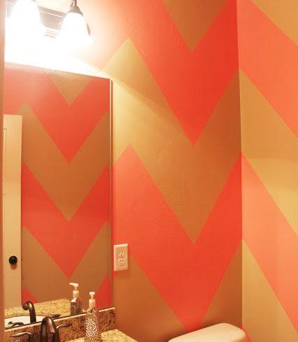 {DIY Chevron Bathroom/Wall}