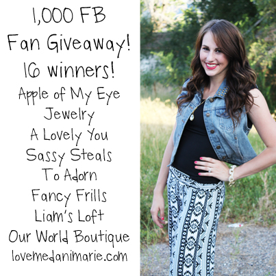 1,000 FACEBOOK FOLLOWERS GIVEAWAY! CLOSED