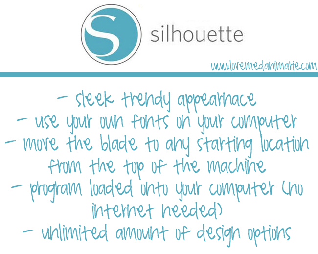 Cricut Explore Machine vs Silhouette by Utah blogger Dani Marie