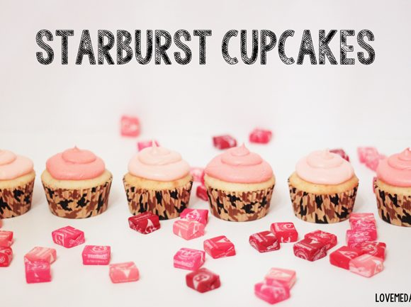 STARBUST CUPCAKE RECIPE FOR THE BIG GAME. CAN YOU SAY YUMM!