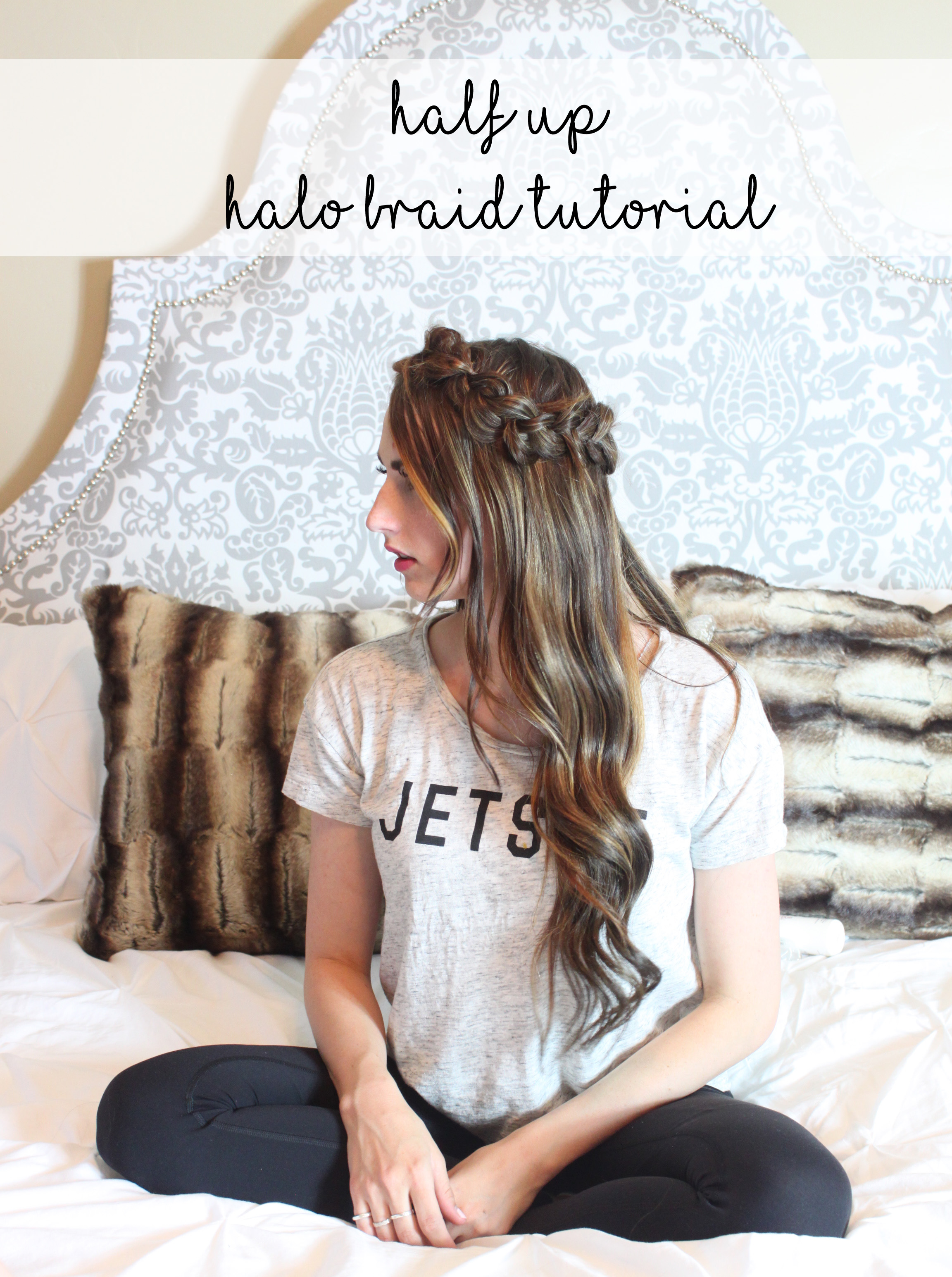 half up halo braid tutorial