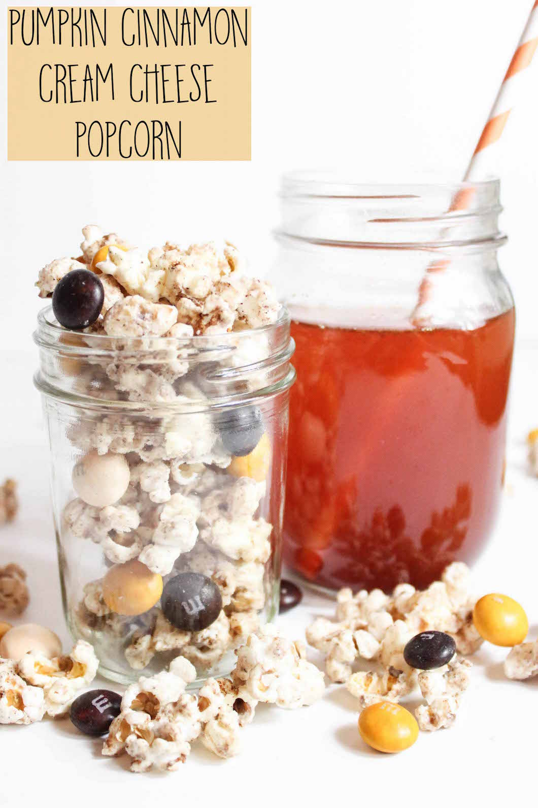 Pumpkin Cinnamon Cream Cheese Popcorn Recipe