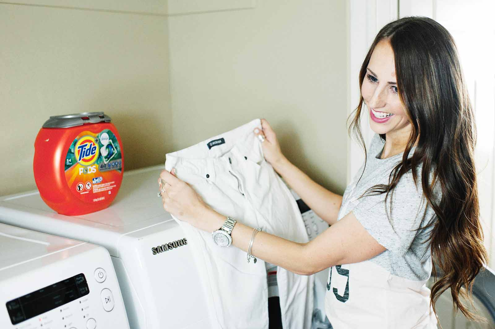 Washing White Jeans