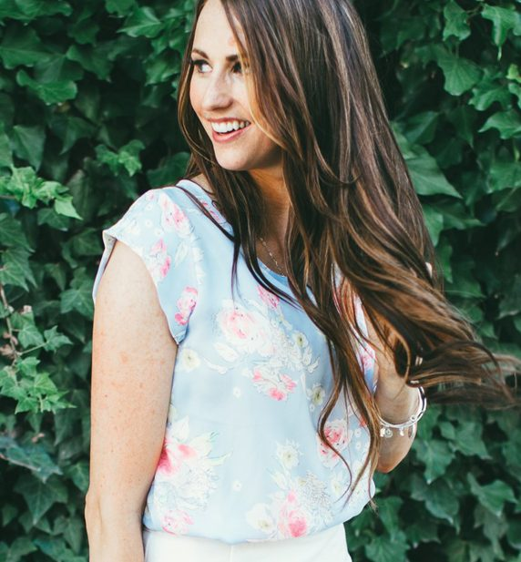 Dani Mari Light Blue Floral Top