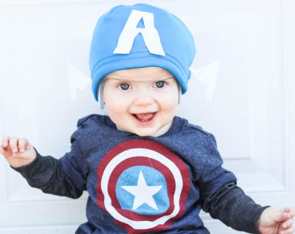 DIY NO SEW CAPTIAN AMERICA HAT