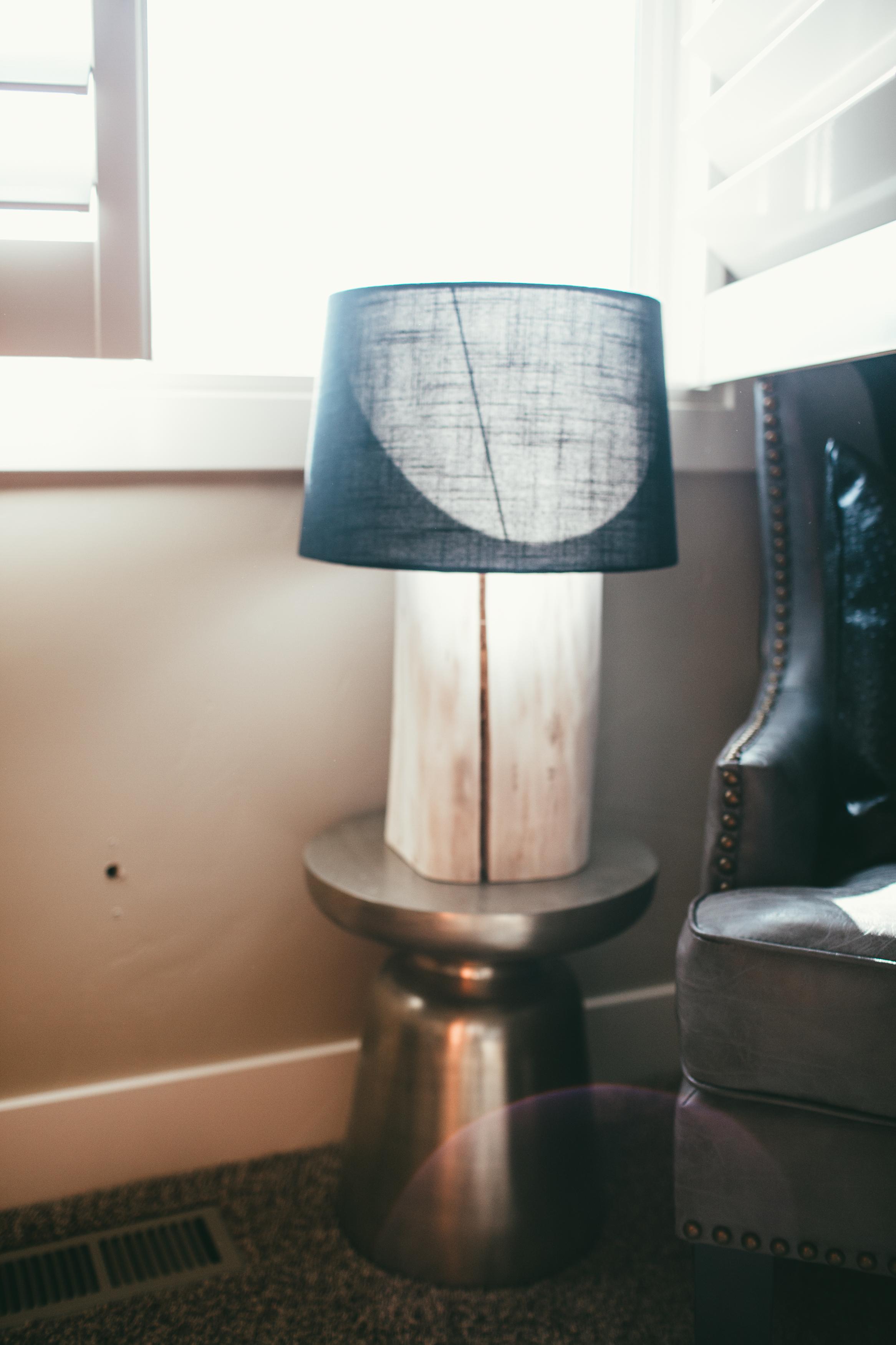 DIY Log Lamp