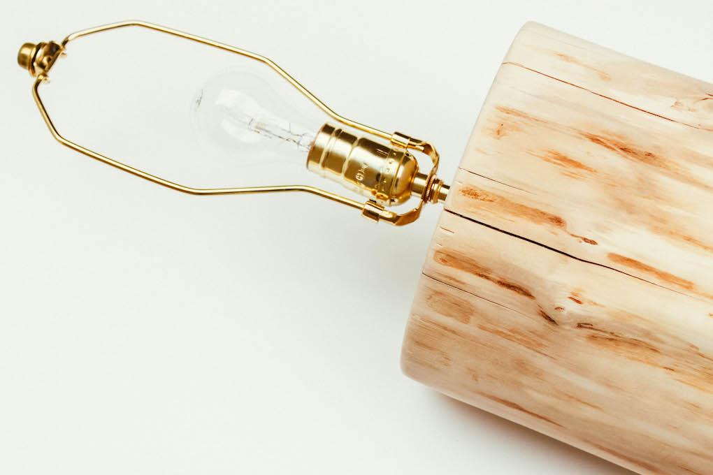 Log Lamp DIY