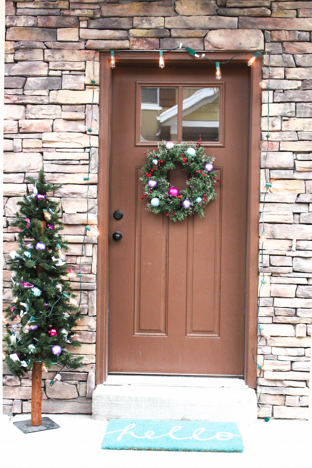 christmas tree christmas lights wreath christmas tree christmas tree wreath - How To Decorate Your Door For Christmas