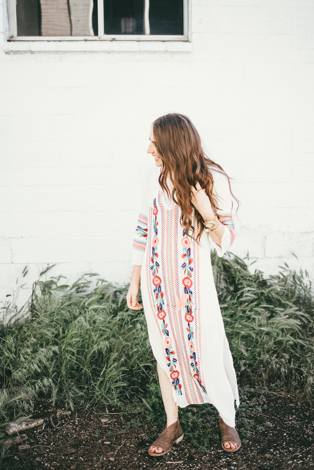 maxi dress embroidered 68