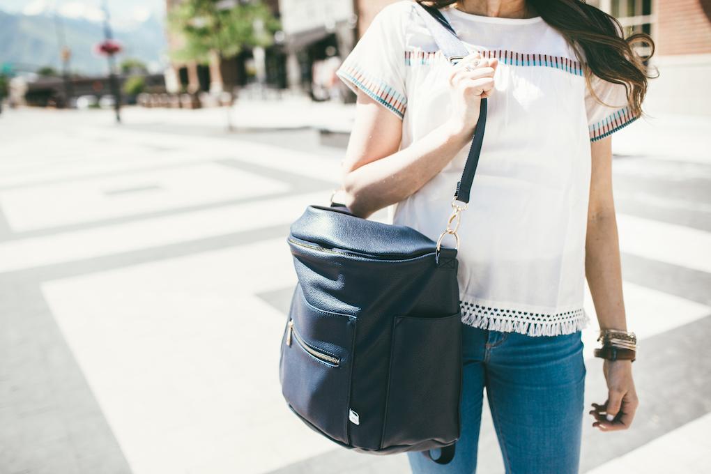 Navy Fawn Design Bag