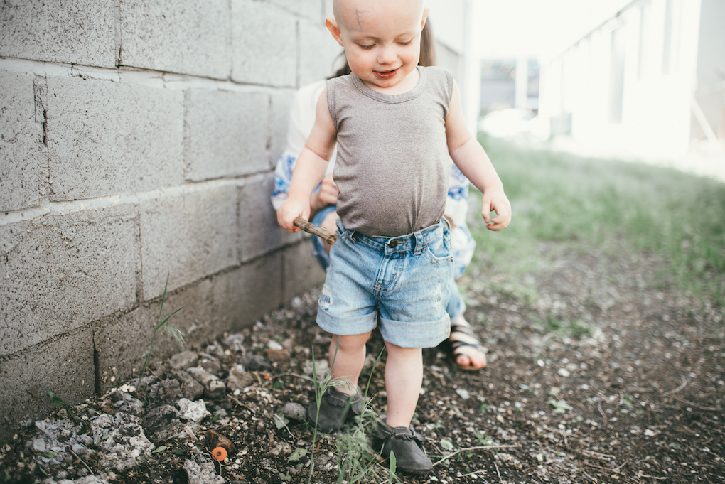 toddler grey tank top