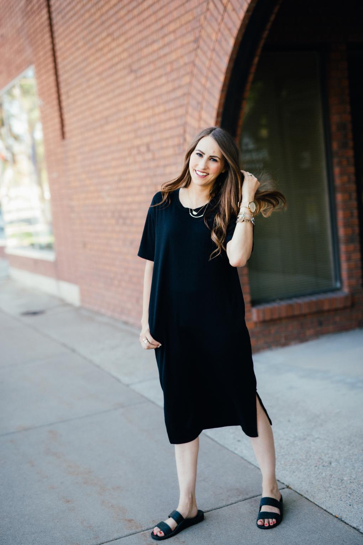 Oversized Black Dress