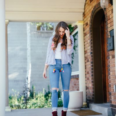 EMBROIDERED JACKET – SUMMER TO FALL TRANSITION PIECE