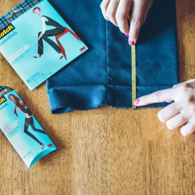 HOW TO FIX A FALLEN OUT HEM WITH NO SEWING!