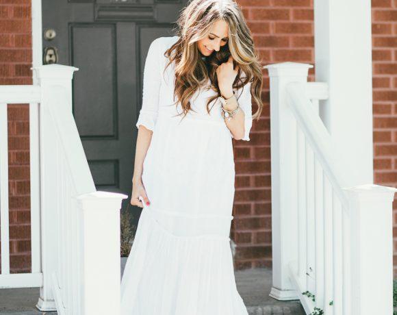 MAMA & THAT WHITE MAXI DRESS.