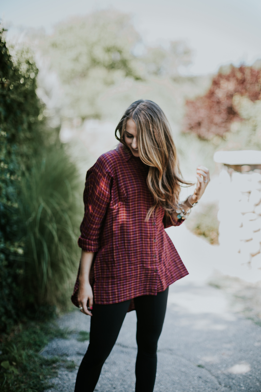 The perfect red oversized flannel to wear through the fall with leggings or jeans.