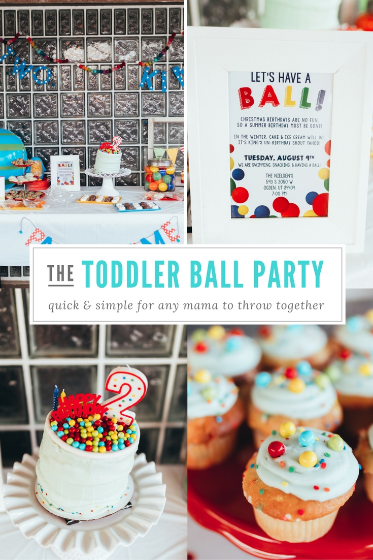 KINGS HAPPY UN-BIRTHDAY - KIDS BALL PARTY by Utah blogger Dani Marie - toddler-ball-party