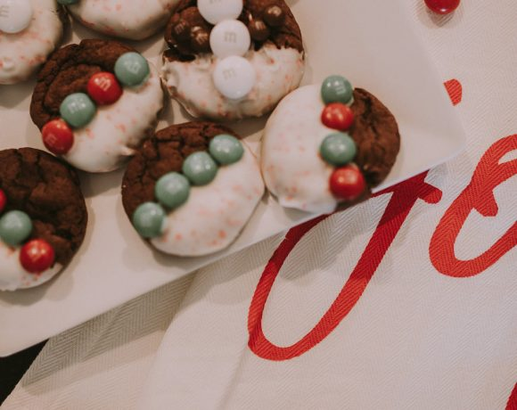 M&M'S® WHITE CHOCOLATE PEPPERMINT COOKIES!