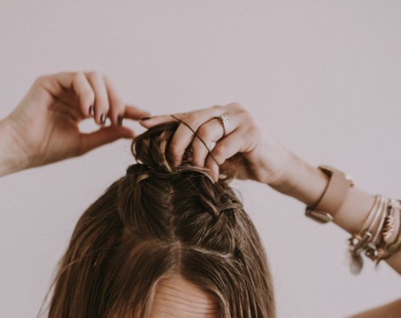 French Braid Top Knot Hair Tutorial