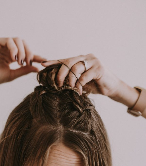 French Braid Top Knot Hair Tutorial