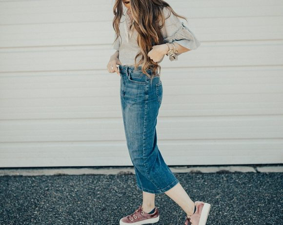 3 Ways To Wear Denim Skirts
