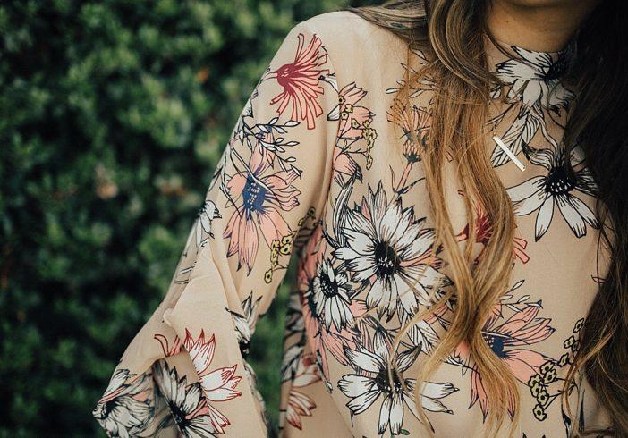 Tan Florals.
