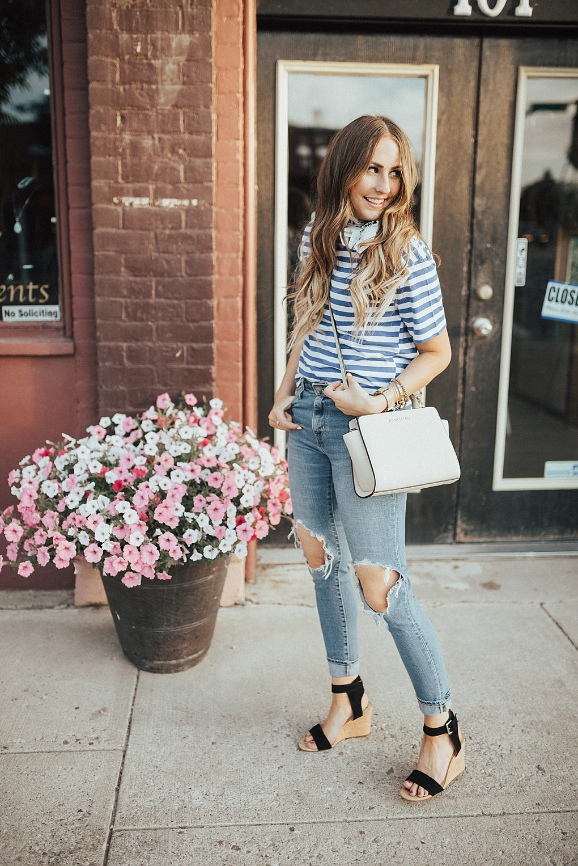 Cute & Trendy Neck Scarf by Utah fashion blogger Dani Marie.
