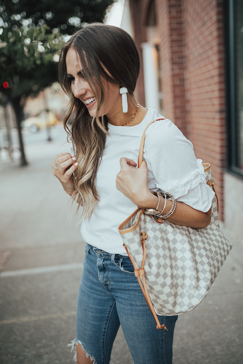 Dressing Up A Plain White Tee by Utah fashion blogger Dani Marie