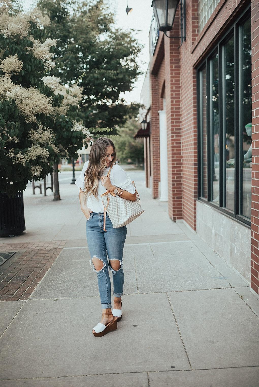 Dressing Up A Plain White Tee by Utah fashion blogger Dani Marie