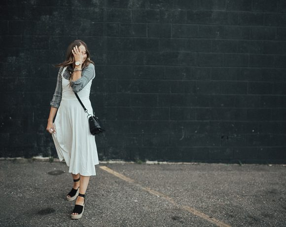 Wearing White In The Fall: White Tank Top Dress
