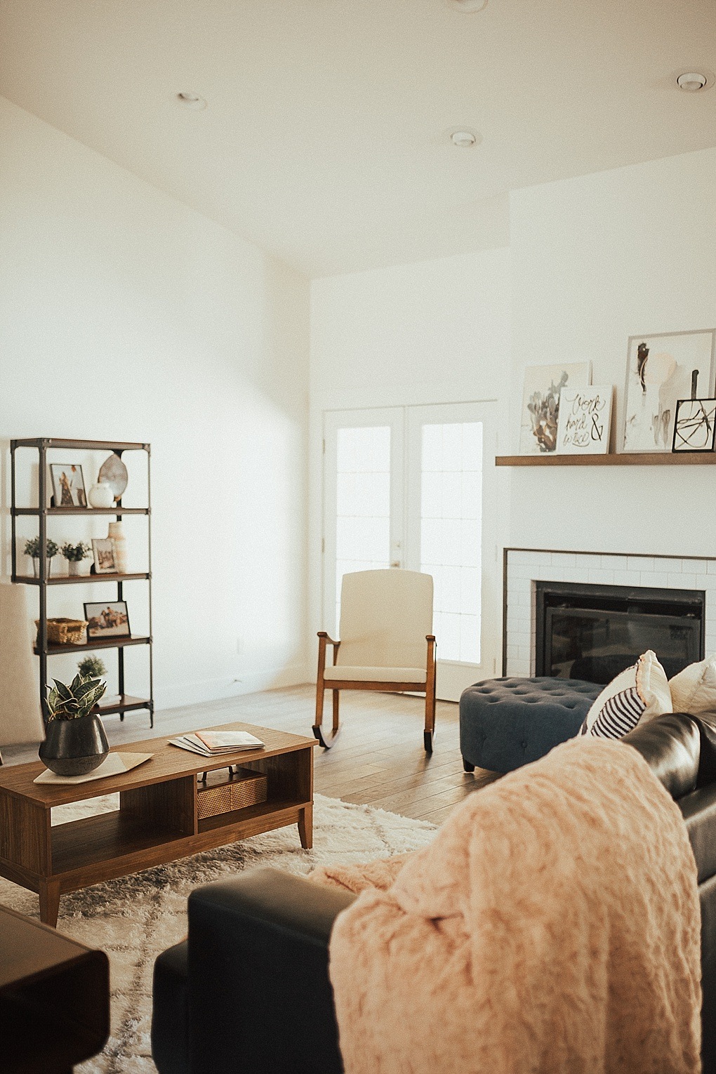 Room Reveal - Our Modern Mid Century Living Room by popular Utah blogger Dani Marie