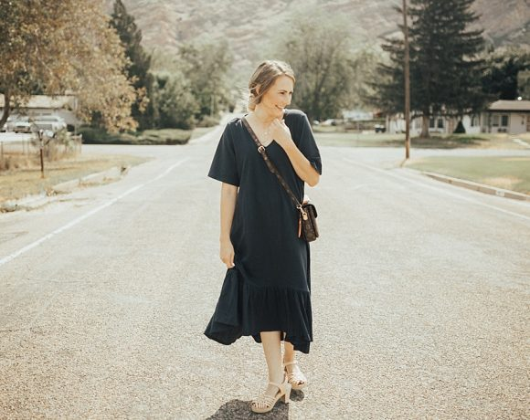 Navy Maxi Dress For Fall