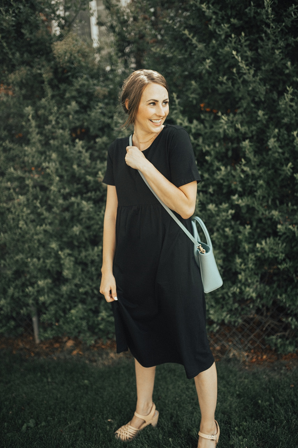 The Cutest Black Casual Dress by Utah fashion blogger Dani Marie