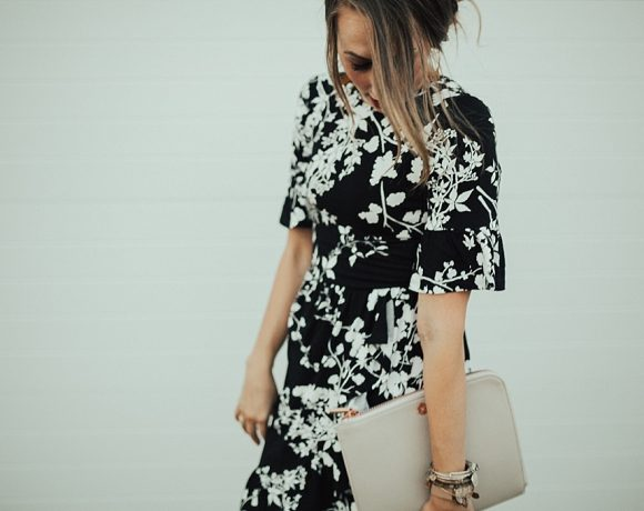 How to Style a Floral Wrap Dress for Fall