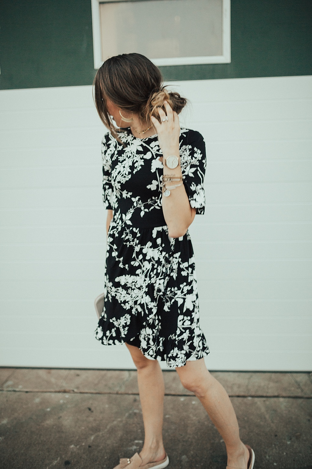 How to Style a Floral Wrap Dress for Fall by Utah fashion blogger Dani Marie