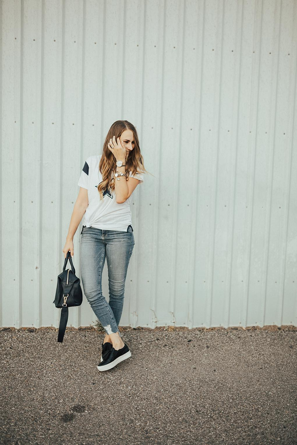 What To Wear On Game Day: My Dallas Cowboys Shirt by Utah fashion blogger Dani Marie