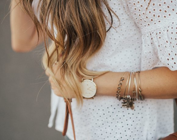 A Cute Eyelet Top To Dress Your Jeans Up