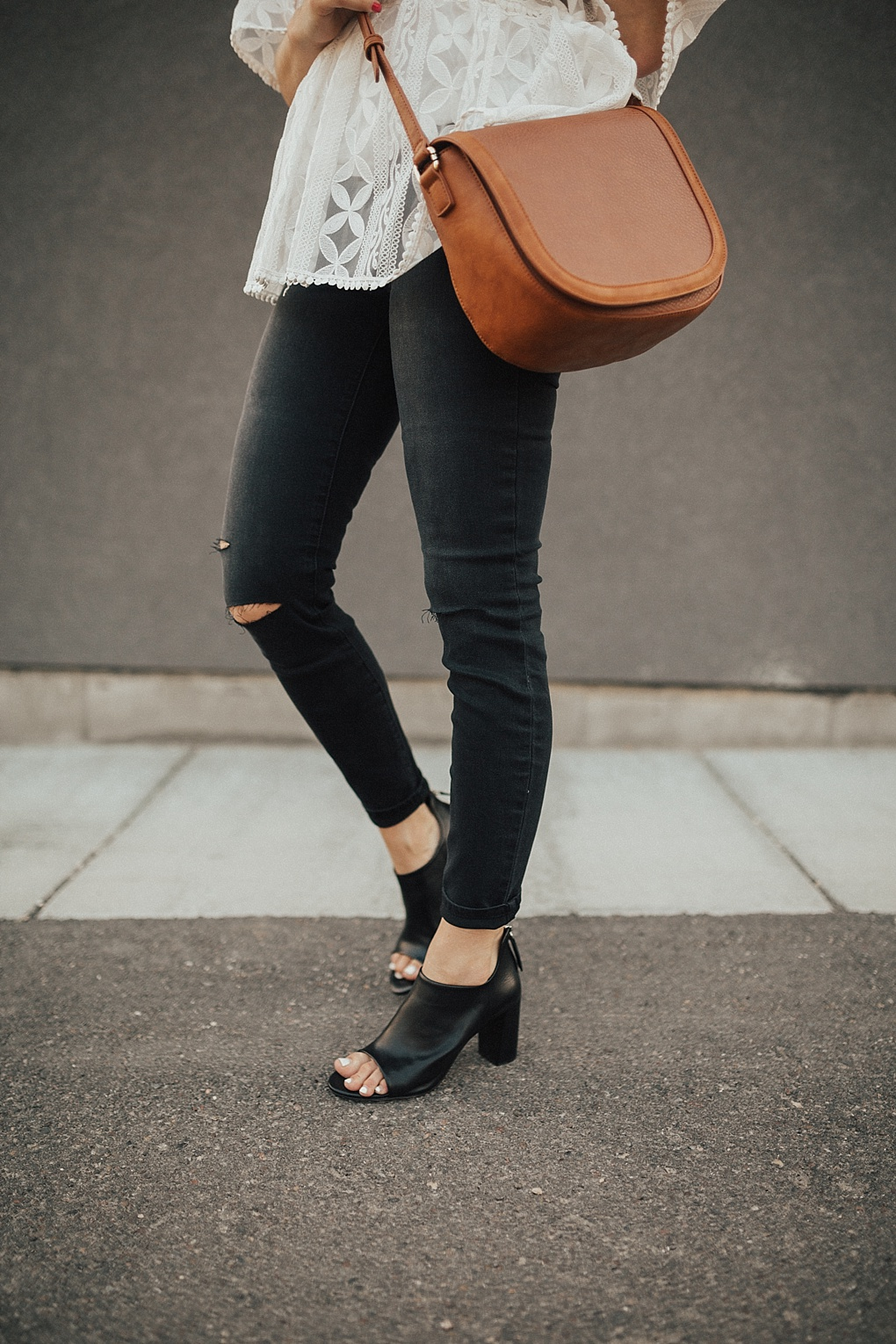 What to Wear with Peep Toe Shoes by Utah fashion blogger Dani Marie