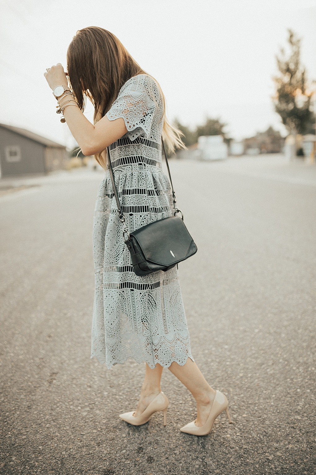 Tips to Find the Perfect Grey Lace Dress by Utah fashion blogger Dani Marie
