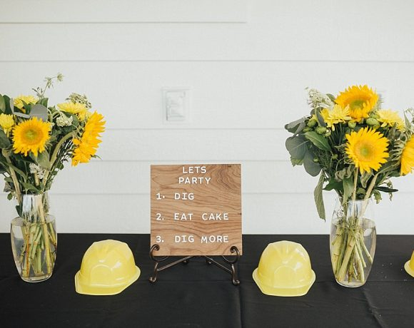A Modern Tractor Birthday Party