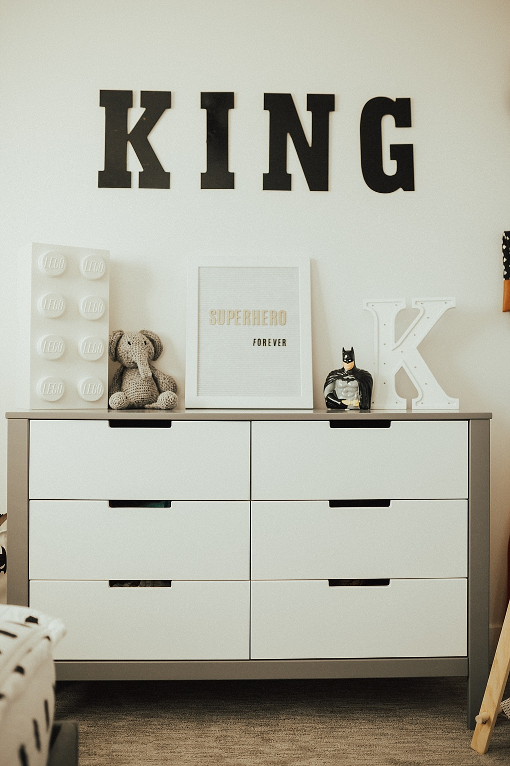 King's Modern Superhero Bedroom by Utah style blogger Dani Marie