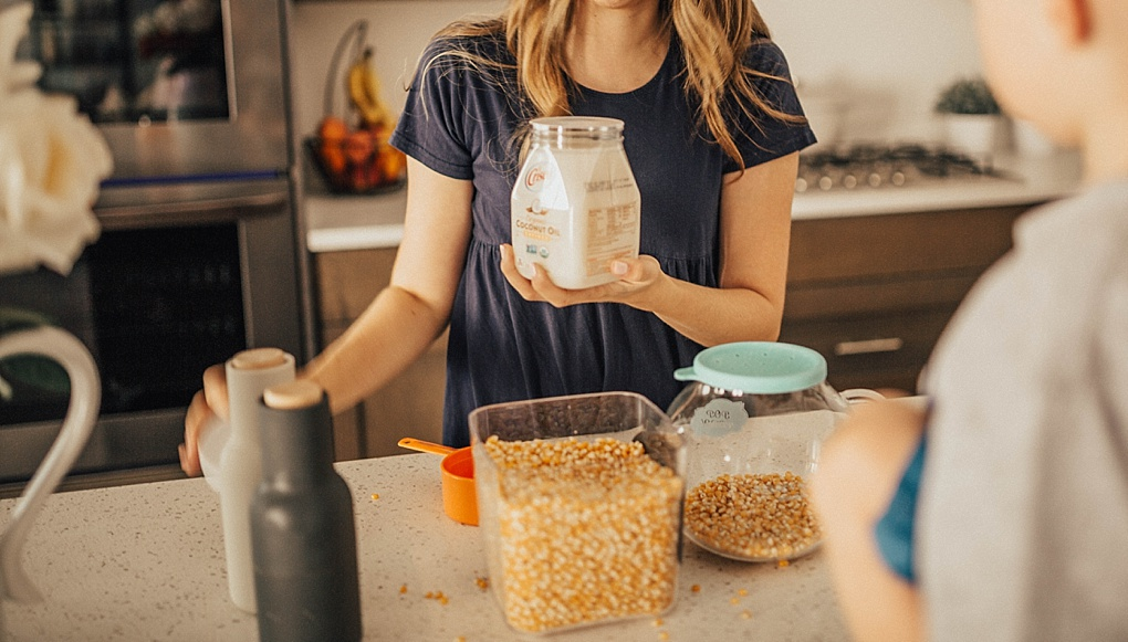 The Perfect Homemade Microwave Popcorn Snack by Utah lifestyle blogger Dani Marie