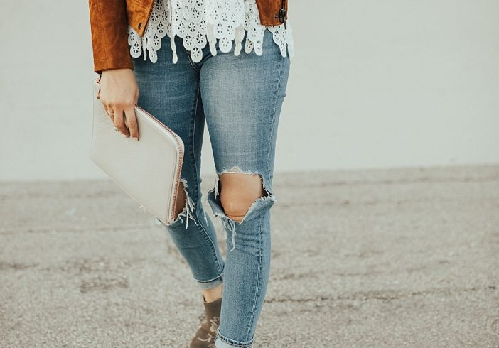 3 Ways to Wear Suede for Fall Like This Brown Suede Jacket
