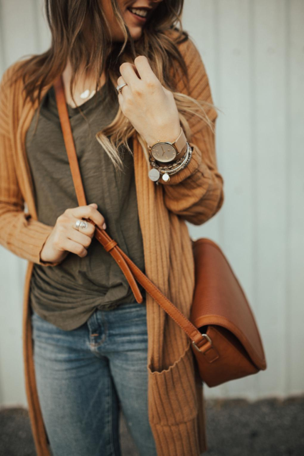 How To Style a Ribbed Cardigan by Utah fashion blogger Dani Marie