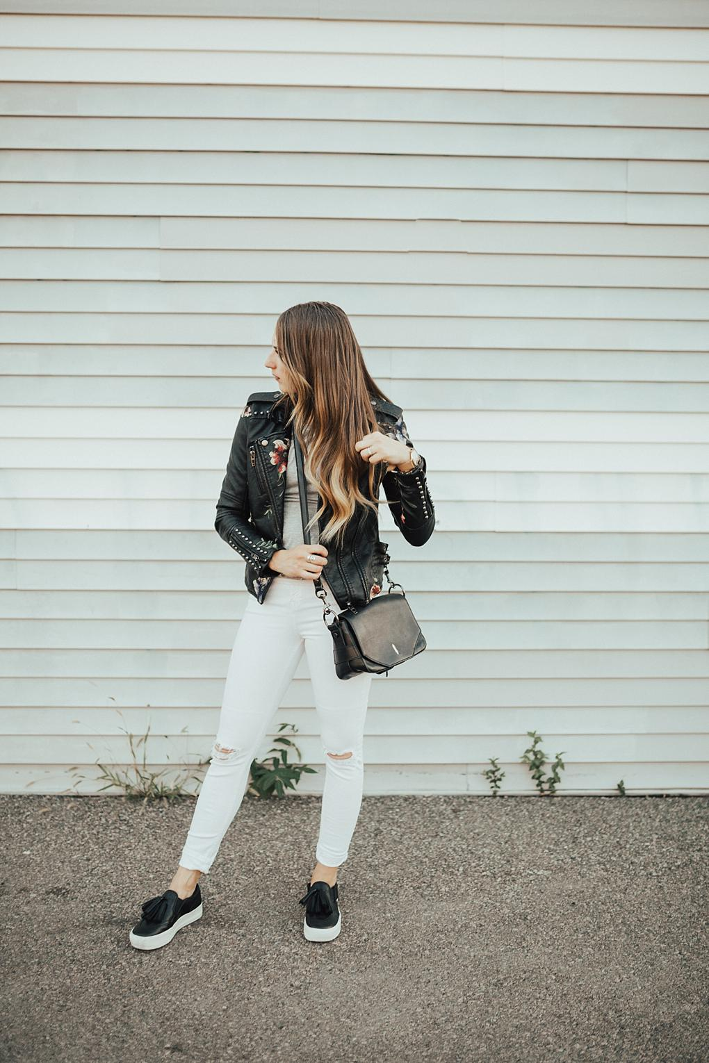 Floral Leather Jacket & 7 Pieces That Are Perfect For The Embroidery Trend by Utah fashion blogger Dani Marie