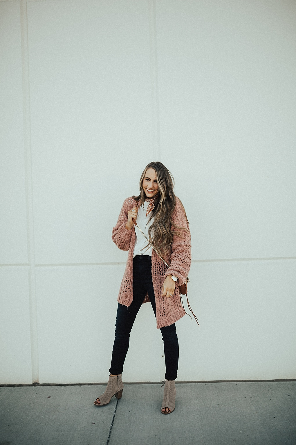 Layering Tips with a Blush Cardigan by Utah fashion blogger Dani Marie