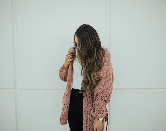 Layering Tips with a Blush Cardigan