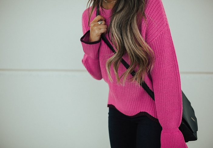 Wearing Colorful Sweaters Through Fall & Winter