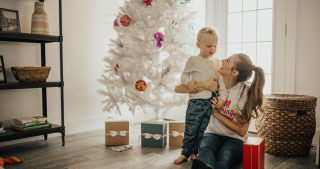 Christmas Toddler Under Tree-9768