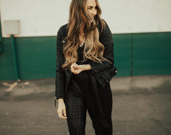 Pairing Textures Together & a Dressy Black Jumpsuit